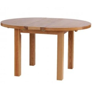 Vancouver Petite VSP Solid Oak Furniture 140cm Round Extension Dining Table