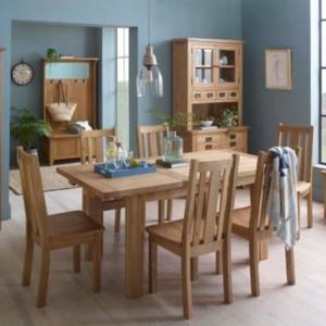 Vancouver Petite VSP Solid Oak Furniture 180cm Extending Dining Table