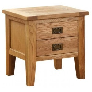 Vancouver Petite Solid Oak 1 Drawer Lamp Table