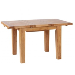 Vancouver Petite Solid Oak Extension 140cm Dining Table