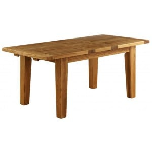 Vancouver Petite Solid Oak Extension Dining Table 230cm