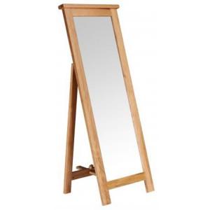 Vancouver Petite Solid Oak Free Floor Standing Mirror