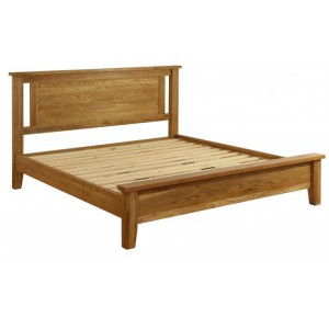 Vancouver Petite Solid Oak Low End 4ft6in Double Bed Frame