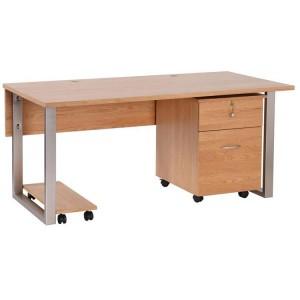 Vancouver Petite Solid Oak Office Desk