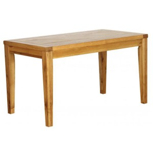Vancouver Petite Solid Oak Rectangular Fixed Top Cafe Dining Table