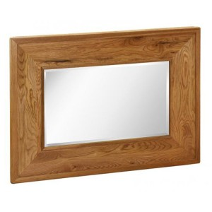 Vancouver Petite Solid Oak Rectangular Wall Mirror