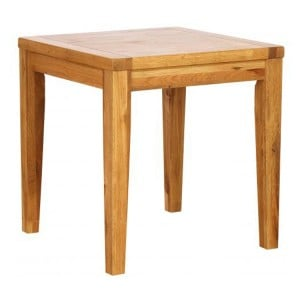 Vancouver Petite Solid Oak Square Fixed Top Cafe Dining Table