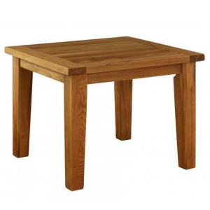 Vancouver Premium Solid Oak Fixed Top Square Dining Table 1.0m