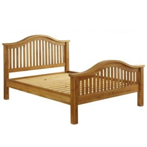Vancouver Premium Solid Oak High End 4ft6in Double Bed Frame