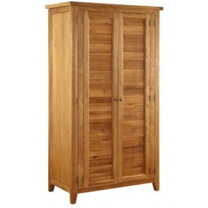 Vancouver Premium Solid Oak Large 2 Door Full Hanging Double Wardrobe
