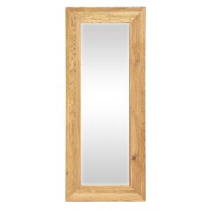 Vancouver Premium Solid Oak Long Rectangular Mirror