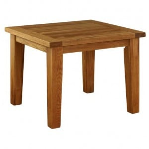 Vancouver Premium Solid Oak Square Fixed Top Dining Table 1.0m