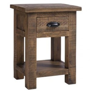 Vancouver Sawn Old Oak 1 Drawer Bedside Table