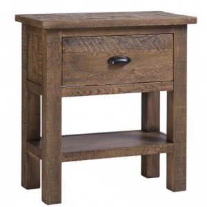 Vancouver Sawn Old Oak 1 Drawer Console Table