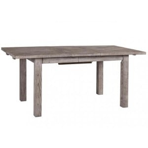 Vancouver Sawn Solid Oak Weathered Grey Large Extending Dining Table 180cm