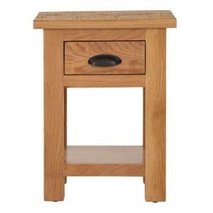 Vancouver Sawn Solid Oak Furniture 1 Drawer Bedside Table