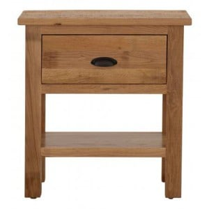 Vancouver Sawn Solid Oak Furniture 1 Drawer Console Table