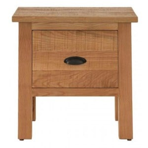 Vancouver Sawn Solid Oak Furniture 1 Drawer Lamp Table