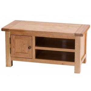 Vancouver Select Oak Furniture 1 Door TV Media Entertainment Cabinet