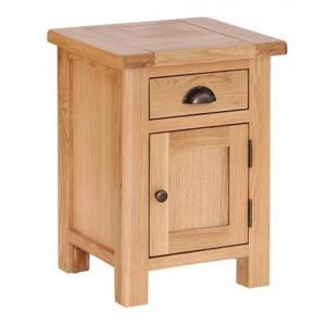 Vancouver Select Oak Furniture 1 Drawer 1 Door Bedside Table Cabinet