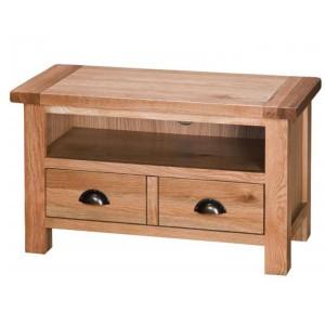 Vancouver Select Oak Furniture 2 Drawers TV Media Entertainment Unit