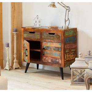 Coastal Chic Reclaimed Wood Furniture Small Sideboard