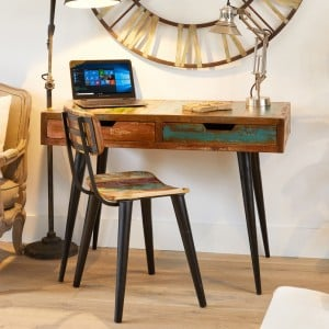 Coastal Chic Reclaimed Wood Furniture Laptop Desk / Dressing Table