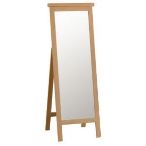 Colchester Rustic Oak Furniture Cheval Mirror