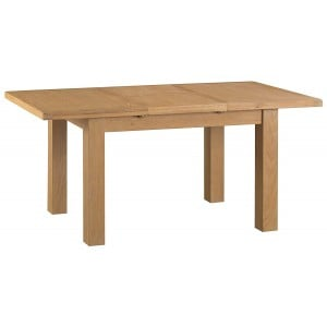 Colchester Rustic Oak Furniture 1.25m Butterfly Extending Table