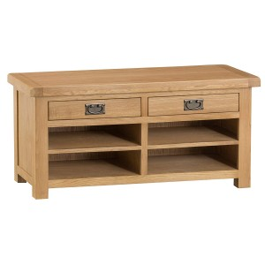 Colchester Rustic Oak Furniture Hall Bench