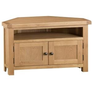 Colchester Rustic Oak Furniture Corner TV Unit
