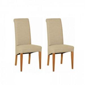 Devonshire New Oak Furniture Beige Fabric Chair (Pair)