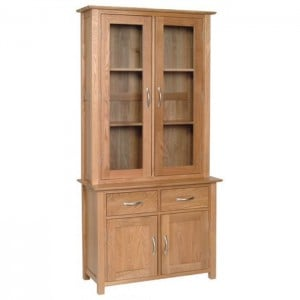 Devonshire New Oak Furniture Small Glazed Dresser