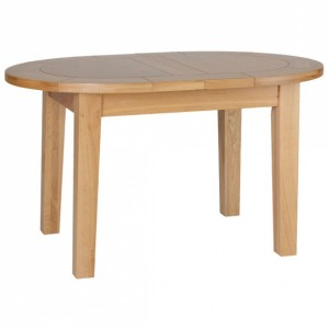 Devonshire New Oak Furniture Small D End Extending Dining Table