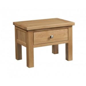 Devonshire Dorset Oak Furniture Side Table with Drawer