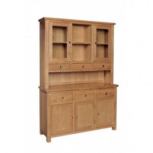 Devonshire Dorset Oak Furniture Large Dresser Display Cabinet