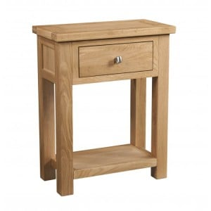 Devonshire Dorset Oak Furniture 1 Drawer Console Table