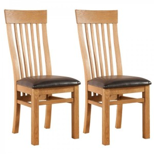 Devonshire Avon Oak Furniture Curved Back Chair (Pair)