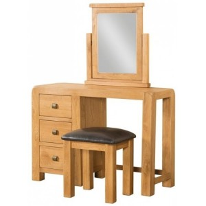 Devonshire Avon Oak Furniture Dressing Table & Stool