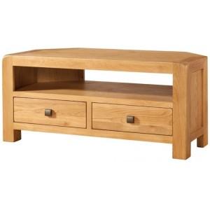 Devonshire Avon Oak Furniture Corner TV Unit