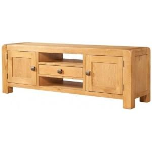 Devonshire Avon Oak Furniture Wide TV Unit