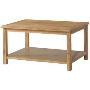 Devonshire Burford Oak Furniture Coffee Table With Shelf
