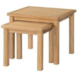 Devonshire Burford Oak Furniture Nest Of Tables