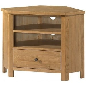 Devonshire Burford Oak Furniture Corner TV Unit