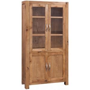 Devonshire Como Oak Furniture Display Cabinet