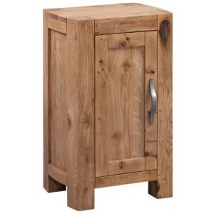 Devonshire Como Oak Furniture 1 Door Hall Cabinet