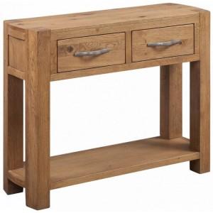 Devonshire Como Oak Furniture Large Console 2 Drawers & Shelf