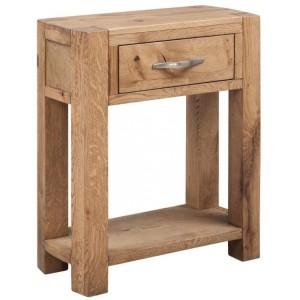 Devonshire Como Oak Furniture Small Console With 1 Drawer & Shelf