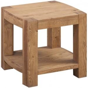 Devonshire Como Oak Furniture Lamp Table With Shelf