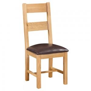 Devonshire Dorset Oak Furniture Ladder Back Dining Chair